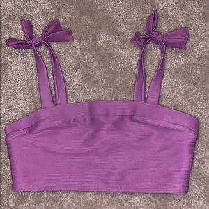 Brand NEW ribbed bikini top
